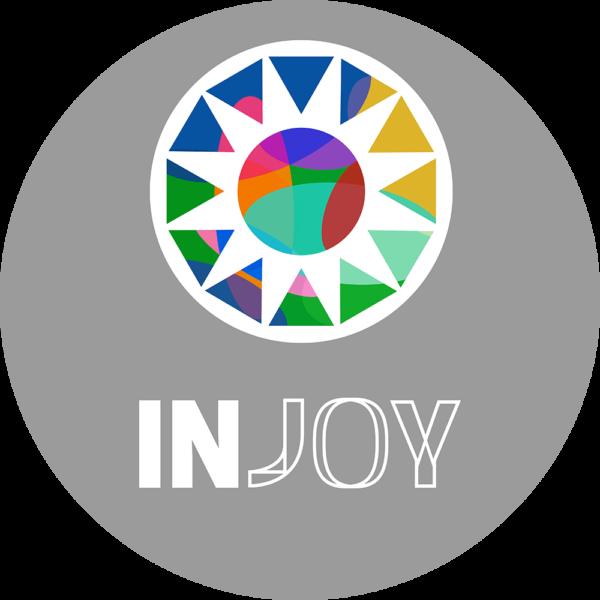 Injoy logo sticker